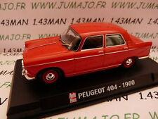 AP25N Voiture 1/43 IXO AUTO PLUS : PEUGEOT 404 1960 rouge