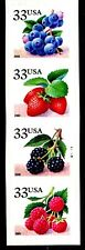 Fruit Berries  Linerless Vertical Coil PNC4 Pl G1111 MNH 3404 to 3407 or 3407A