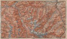 STUBAIER ALPEN. Stubaital Ötztal Pitztal. Solden Kühtai Innsbruck  1911 map