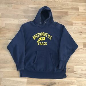 Vintage 70's Northport Track Champion Single Color Reverse Weave Hoodie XL USA