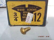 Brass Oval Head Slotted Wood Screws 3/4 x 12