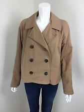 LAURA ASHLEY Camel Double Breasted Short Jacket COAT Size 10