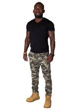 Slim Fit Men's Cargo Trousers - Army Camouflage Mens Combat Pants Army Trousers