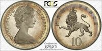 1981 GREAT BRITAIN 10 PENCE PCGS PR67DCAM BEAUTIFUL TONED POP 3 ONLY 3 HIGHER