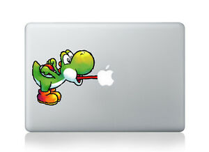"Yoshi Super Mario Laptop Apple Decal Sticker Macbook Air/Pro/Retina 13""15""17"""
