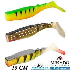 MIKADO ''FISHUNTER'' SOFT LURES, SIZE 13 CM, PACK OF 3, MULTICOLOUR 3, PIKE