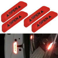4Pcs Universal Car Door Open Sticker Reflective Tape Safety Warning Decal Red