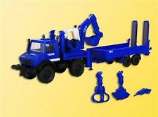 Kibri 18478 THW Unimog with Excavator and Equipment Trailer, H0, Kit