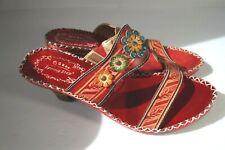 Spring Step Tango Womens Size 8 EU 39 Red Slip On Heel Sandals Shoes Latin Artis