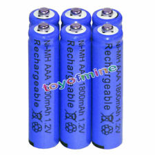 6x AAA battery batteries Bulk Nickel Hydride Rechargeable NI-MH 1800mAh 1.2V Blu