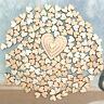 100 Pcs Mixtes Rustique en Bois Amour Cœur Mariage Table Scatter Décoration