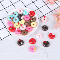 10Pcs 1:12 Dollhouse miniature candy donut bread doll house kitchen decor J JR