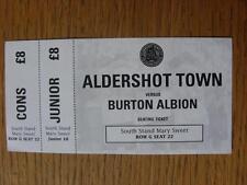 01/11/2011 Ticket: Aldershot Town v Burton Albion