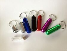 New bullet style tube secret compartment Pill holder keychain you pick color