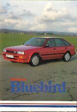 Nissan Bluebird 1987 UK Market Foldout Sales Brochure L LX SLX SGX Turbo Estate