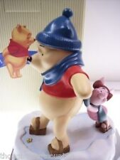 Pooh & Friends POOH & PIGLET Figurine ICE SKATING * NIB * free usa shipping