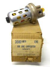 """SCOVILL SCHRADER BELLOWS AIR LINE LUBRICATOR 3580-1000, 1/4"""" NPT, W/BOWL GAURD"""