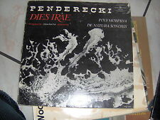 LP PENDERECKI DIES IRAE POLAND PRESS N/MINT + BOOKLET ORCH.FILARMONICA CRACOVIA