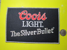 """BEER PATCH COORS LIGHT """"SILVER BULLET"""" BEER PATCH LARGE SIZE LOOK AND BUY!*"""