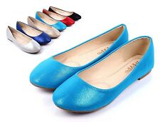 Blue Narrow Slip On Sexy Met Suede Cute Wedding Womens Ballet Flats Size 8