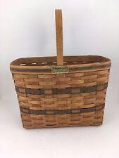 Longaberger 1987 Bread & Milk J W Basket Vintage Rare JW