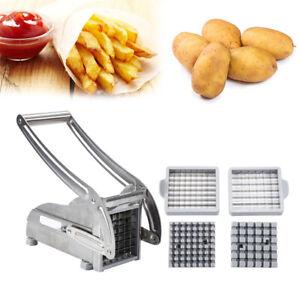 Edelstahl Pommesschneider Pommes Kartoffelschneider Frites Schneider DE