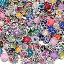 20pcs/lot Amazing Rhinestone Mix Styles 18mm metal snap button Fit snaps Jewelry