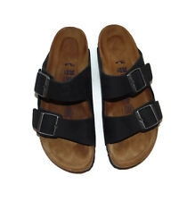$140 BIRKENSTOCK 'Arizona' Soft Footbed Sandals, Black leather, 39, 8 Lk Nw!