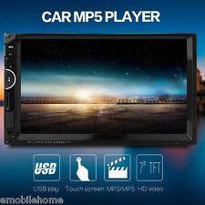 """7001 7"""" Lecteur MP5 Lecteur multimédia voiture 2-Din 12V BT Radio USB AUX SD"""