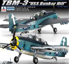 1/48 TBM-3 USS Bunker Hill / Academy Model Kit / #12307