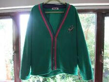 VTG Mens FILA POLARLITE - Green/Pink/Purple Polo Logo Fleece Coat Jacket LARGE