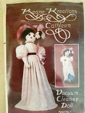 Keane Kreations Vacuum Cleaner Doll Pattern Victorian Woman Dress Flowers UNCUT