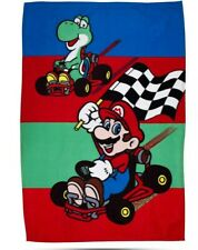 New Official Super Mario 'Champs' Kids Character Fleece Blanket/ Throw