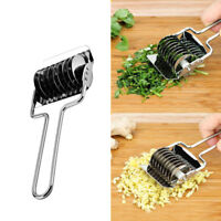 Stainless Steel Spaghetti Noodle Maker Dough Lattice Roller Cutter Kitchen Too