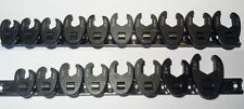 10 PC Metric & 8 PC SAE  Crows Foot Spanner Set Flare Nut Type Crowsfoot 3/8 Drv