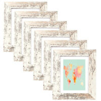 6Pcs Wooden 5x7 Photo Frame Set Picture Frames Tabletop Wall Hanging Home Decor