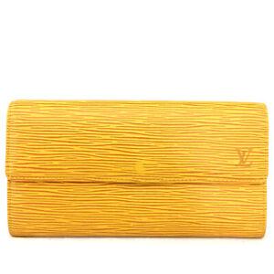 Louis Vuitton Epi Porte Feuille Sarah Yellow Leather Long Bifold Wallet /E1381