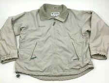 Columbia Jacket Women's Extra Large Ivory Bomber Fleece Lined Full Zip Canvas
