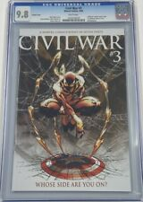 Marvel Civil War #3 Turner Variant CGC 9.8 MCU Iron Spider-Man Damaged Case
