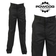 Ladies Womens Cargo Combat Work Wear Trousers Pants Black Navy Size 8 - 22