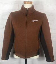 ORAGE Fleece Jacket Women's Burnt Orange Full Zip Pockets