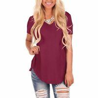 Blouse Casual Loose New V Neck Jumper Floral O Neck Elegant T-Shirt Fashion Tops
