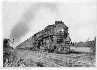 "New York Central Steam Passenger Train 3008 4-8-2 ""Mohawk"" photo NYC Railroad"