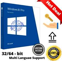 MICROSOFT WINDOWS 8.1 PRO 32 / 64 BIT || Original Key Activation License