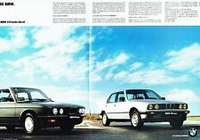 PUBLICITE ADVERTISING 0217  1986  les Diesel BMW 324 524 TD ( double page poster