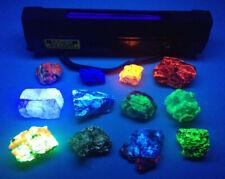 New listing Mining Ultraviolet multi-wave Uv lamp for miner detection & 10 glow rocks sat2