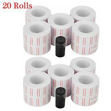 12000pcs Price Gun Labels Paper Tag Sticker Mx-5500 Labeller White 20 Rolls Usa