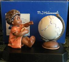 "HUMMEL ""AFRICAN WANDERER"" # 1442 Hum 2062 (3 Piece Set- Figurine, Globe, Base)"