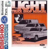 1982 Ford Truck Bronco Econoline Shop Service Repair Manual CD Engine Drivetrain