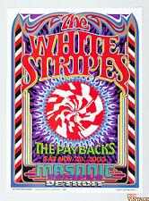 The White Stripes Paybacks 2003 Nov 29 Masonic Detroit Poster Gary Grimshaw